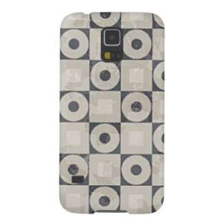 Black and Beige Circle Square Pattern Galaxy S5 Cover