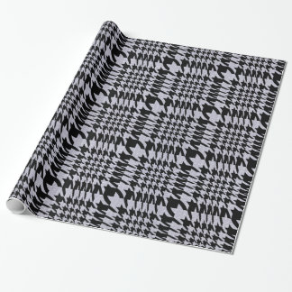 Black And Beige Pied-De-Poule HoundsTooth Pattern