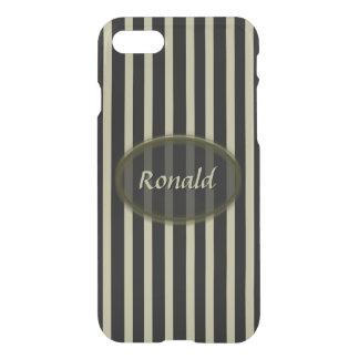 Black and Beige Stripes - Classic Design iPhone 8/7 Case