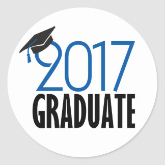 Black and Blue 2017 Graduate Sticker