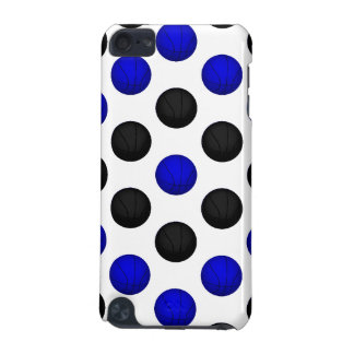 Black and Blue Basketball Pattern iPod Touch (5th Generation) Case