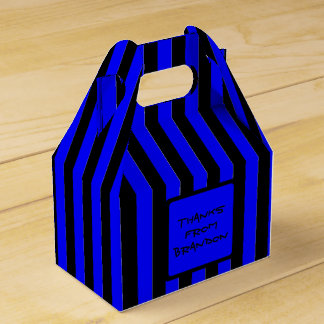 Black and Blue Boys Party Custom Favor Box