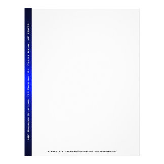 Black and Blue Business Letterhead