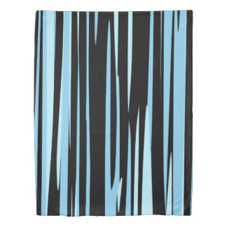 Black and Blue Camo Abstract Duvet Cover