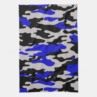 Black and Blue Camo Kitchen Towel