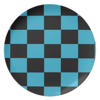 Black and Blue Checkered Plate