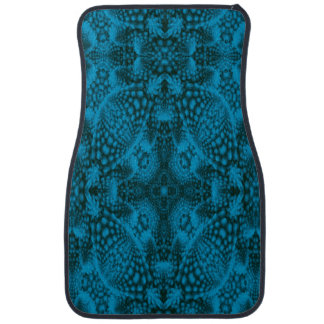 Black And Blue Colorful Car Mats Front
