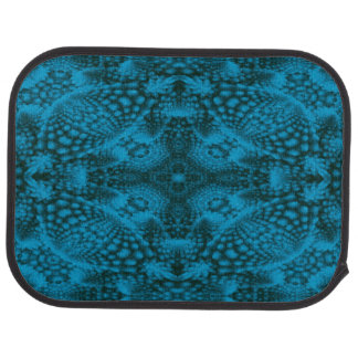 Black And Blue Colorful Car Mats rear