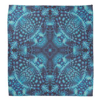 Black and Blue, colorful kaleidoscope bandana