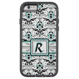 Black and Blue Damask Monogram Tough Xtreme iPhone 6 Case