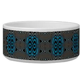 Black and blue dog bowl - Black Diamonds -1-Swirl