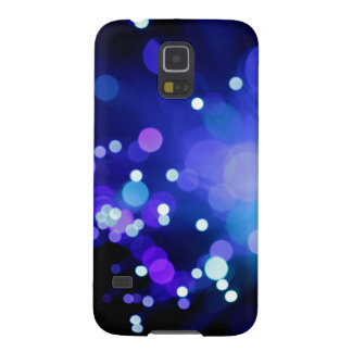 Black and Blue Dots blurred Lights Technology Art Galaxy S5 Cover