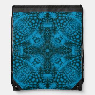 Black And Blue Drawstring Backpacks