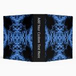 Black and Blue Elegant Pattern Vinyl Binder