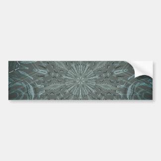 Black and Blue Funky Kaleidoscope Bumper Sticker