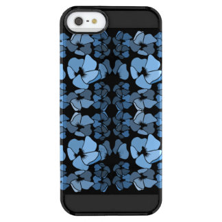 Black and Blue Glam Chic Floral Clear iPhone SE/5/5s Case