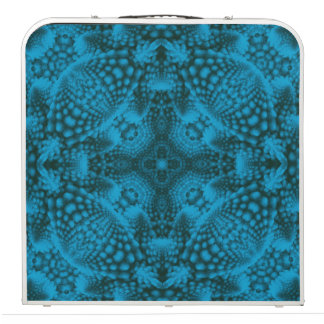 "Black And Blue Kaleidoscope  48"" Beer Pong Table"
