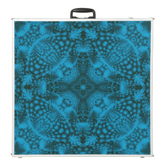 """Black And Blue Kaleidoscope  96"""" Beer Pong Table"""