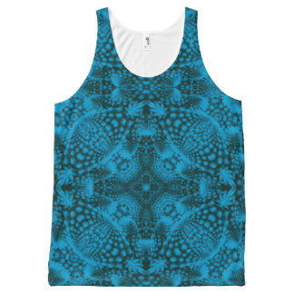 Black And Blue Kaleidoscope All-Over-Print Tank Top