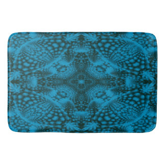 Black And Blue  Kaleidoscope  Bath Mats