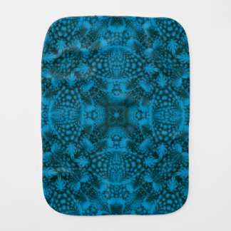 Black And Blue Kaleidoscope Burp Cloth
