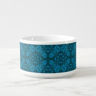 Black And Blue Kaleidoscope  Chili Bowls