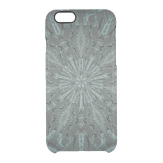 Black and Blue Kaleidoscope Clear iPhone 6/6S Case