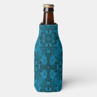 Black And Blue Kaleidoscope Colorful Bottle Cooler