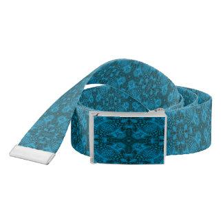 Black And Blue Kaleidoscope  Custom Belts