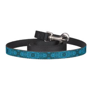 Black And Blue Kaleidoscope    Dog Leash