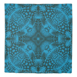 Black And Blue Kaleidoscope    Duvet Covers
