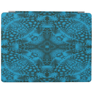 Black And Blue Kaleidoscope   iPad Smart Covers iPad Cover