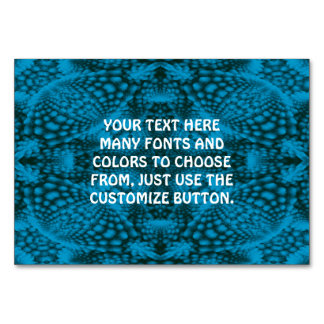 Black And Blue Kaleidoscope  Tablecards Table Card