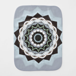 Black and Blue Mandala Burp Cloth