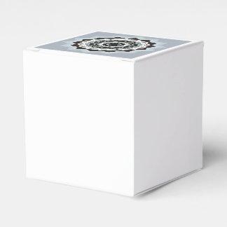 Black and Blue Mandala Favor Box