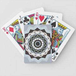 Black and Blue Mandala Poker Deck