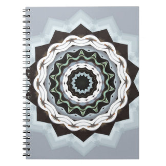 Black and Blue Mandala Spiral Notebook