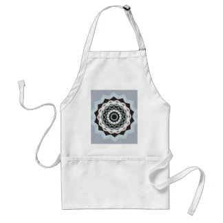 Black and Blue Mandala Standard Apron