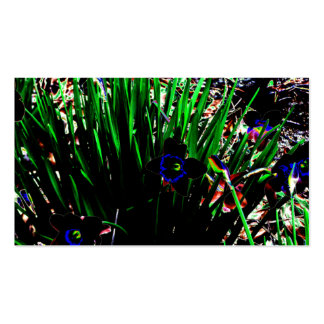 Black and Blue Neon Daffodil Patch Business Card Template