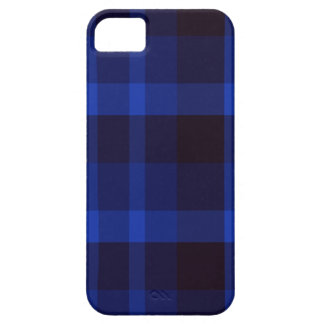 Black and Blue Plaid iPhone 5 Case-Mate