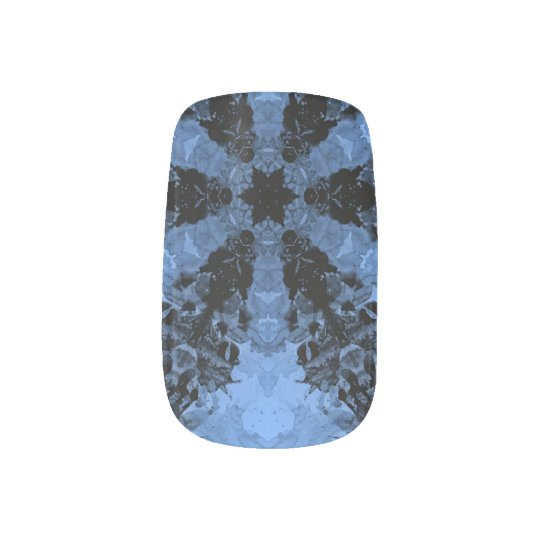 Black and Blue Spears Nail Sticker