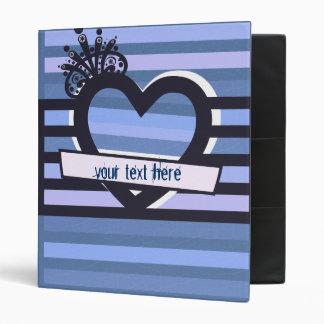 black and blue stripes binder