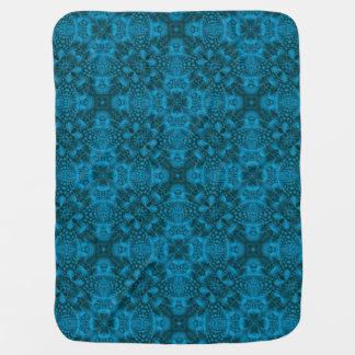 Black And Blue Tiled Design Baby Blankets