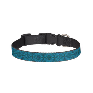 Black And Blue  Tiled Dog Collars