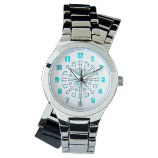 Black and Blue Time Peace Watch