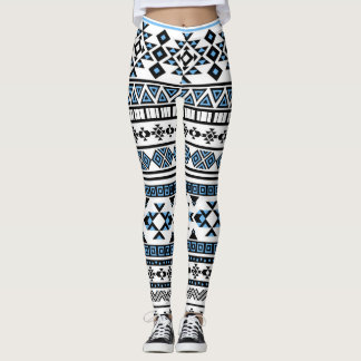 Black and Blue Tribal Aztec Leggings
