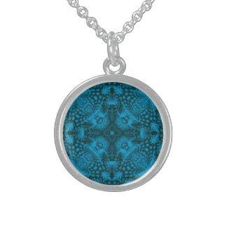 Black And Blue  Vintage Sterling Silver Necklace