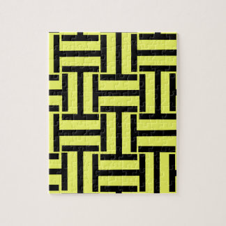 Black and Bright Yellow T Weave Puzzles