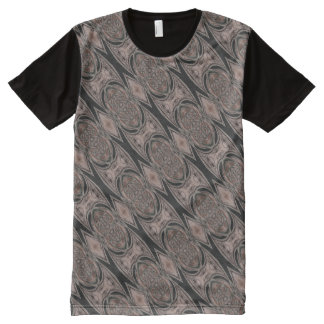 Black And Brown Abstract Pattern All-Over-Print T-Shirt