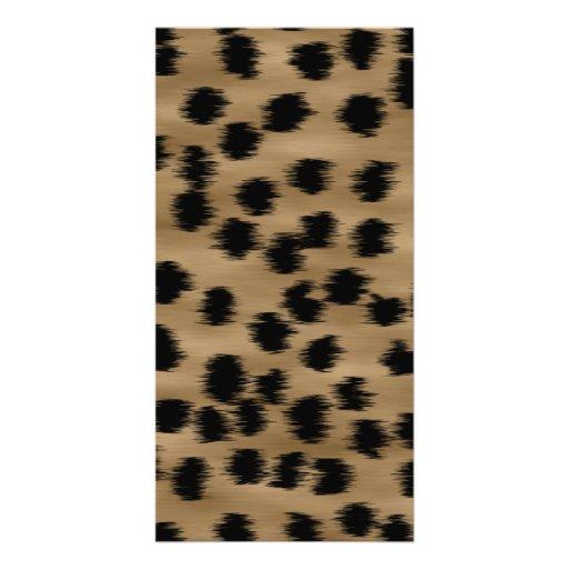 Black and Brown Cheetah Print Pattern. Photo Greeting Card